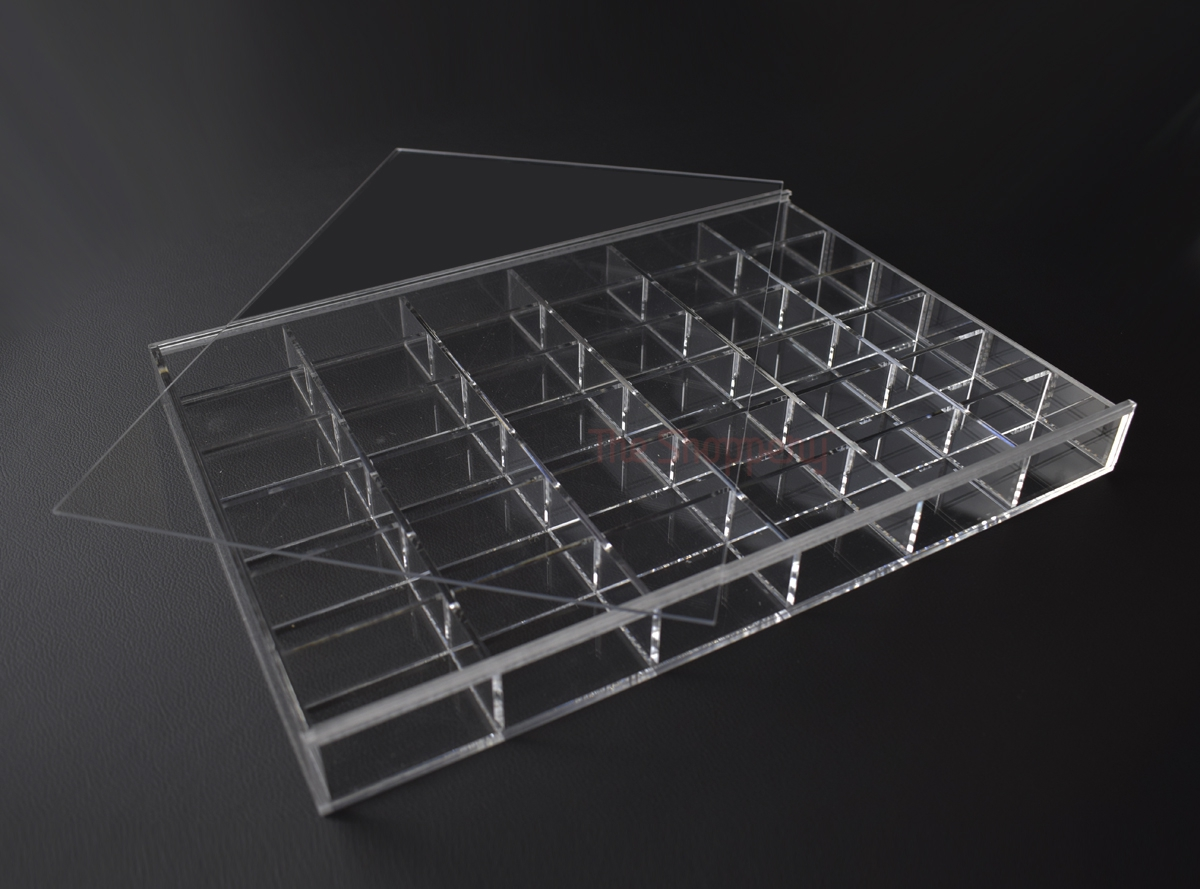 Caja compartimentos transparente the shoppery - Cajas metacrilato ikea ...