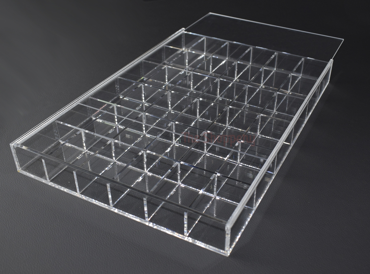 Caja compartimentos transparente the shoppery - Caja metacrilato transparente ...
